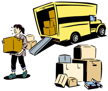 Packing, unpacking boxes, storing and transporting